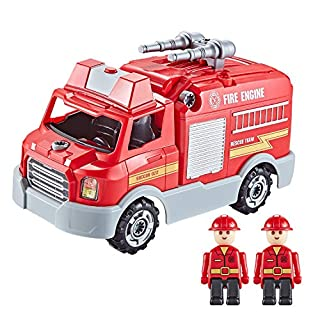 Build Your Own Fire TruckToy Kit - Take Apart Toy for Boys & Girls Aged 3 4 5 6 7