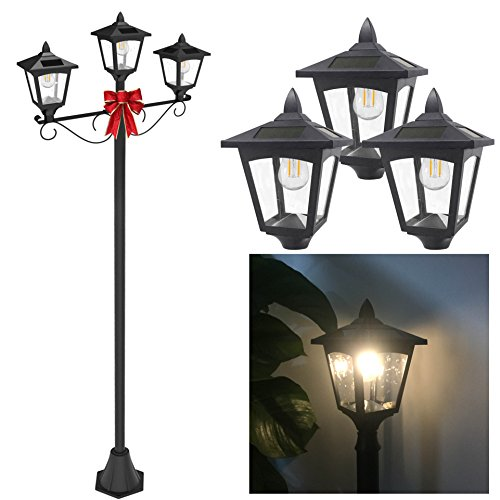 Outdoor Triple Lamp Post in Florida - 4