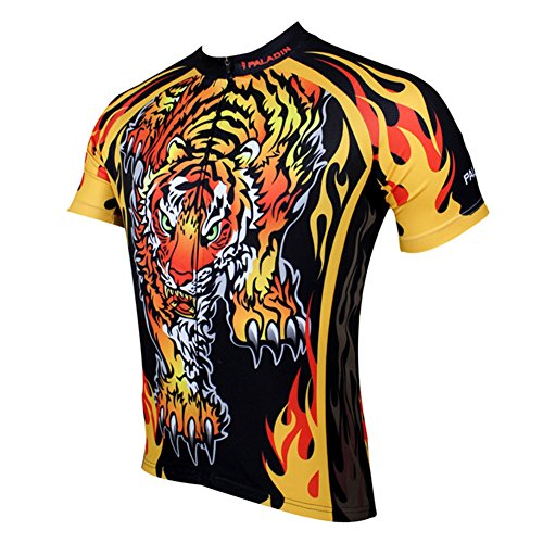 Paladin Special Cycling Men's Short Sleeve Jersey Cycling Clothing Top Wear Tiger (M, Red)
