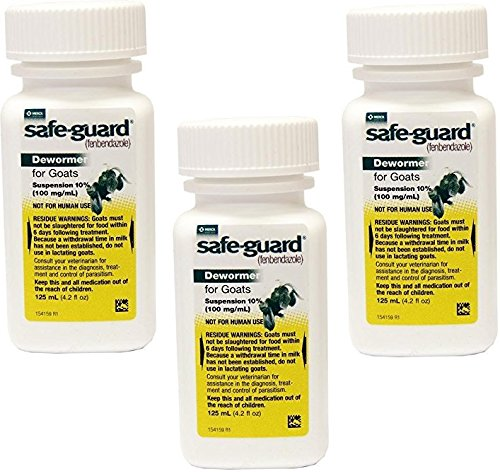 (3 Pack) Durvet Safeguard Goat Dewormer, 125ML