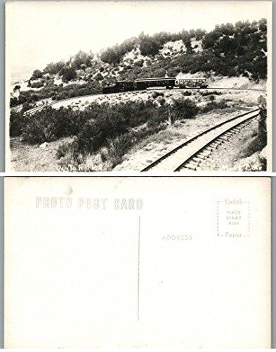 Photo Train Real Railroad (VINTAGE RPPC REAL PHOTO POSTCARD - RAILROAD TRAIN)