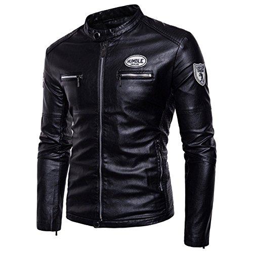 chaqueta XL tamaño chaqueta Los código hombres de hombre invierno felpa moto de Chaqueta casual negro ropa gruesa del 1C7qTqXw