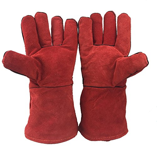 Yosang Heat Resistant Cowhide Welding Gloves TIG Working Gloves-BBQ, Grill, Fireplace, Woodburning Stove Use-14 Inches by Yosang