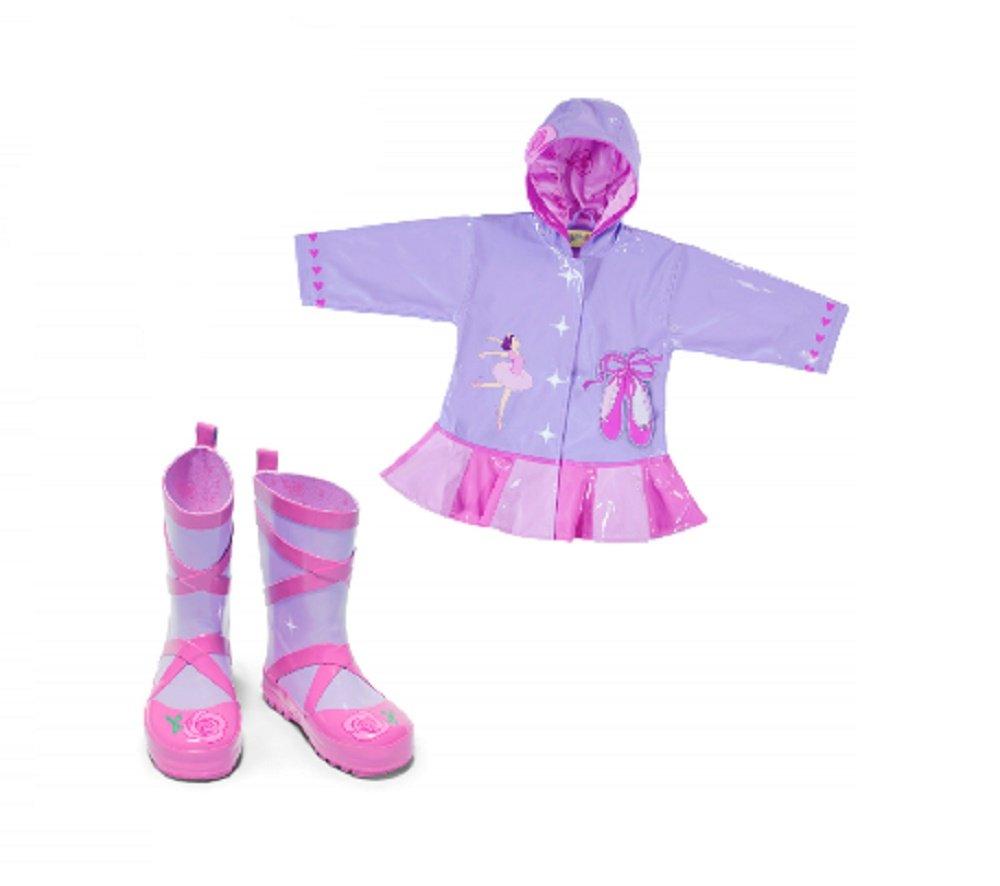Kidorable Ballerina Rain Coat With Rain Boots (4/5, 6 Boots)