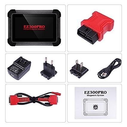 XTOOL EZ300 Pro Diagnostic Tool Engine ABS SRS Transmission TPMS ECU DTC  OBD2 Full System Test