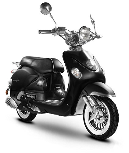 Retro Roller Venezia 50 49 Matte Black Grey Motor Scooters Moped