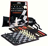 Mini Magnetic Travel Chess Checkers Backgammon