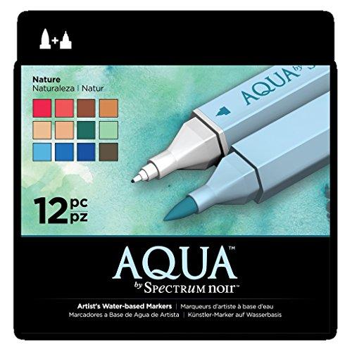 Spectrum Noir Aqua Water Based Marker Art Craft Marker Pens - Nature 12 - Noir Nat