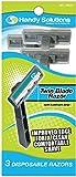 Handy Solutions 3-pack Men's Twin Blade Razors 144 pcs sku# 1869526MA