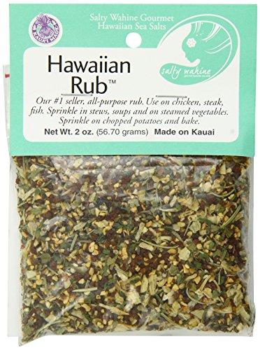 Sea Salt Rub - Salty Wahine Gourmet Hawaiian Sea Salts, Hawaiian Rub, 2 Ounce