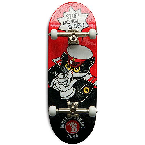 SOLDIERBAR Fan Team 9.0 Bamboo Finger Skateboards (Deck,Truck,Wheel Set for PRO) (Mr.Black) by SOLDIERBAR (Image #9)