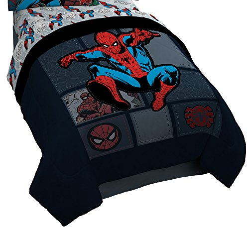 Marvel Spiderman 'Jump Kick' Reversible Twin Comforter