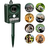COSTA BRAVA ULTRASONIC ANIMAL REPELLER SOLAR POWERED BIRD REPELLENT STROBE LIGHT