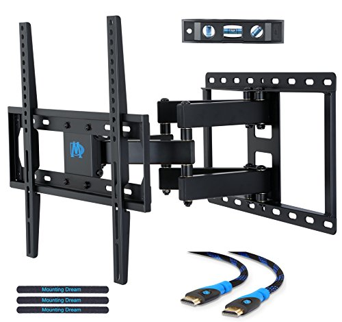 Mounting Dream MD2380 TV Wall Mount Bracket for most 26-55 Inch LED, LCD, OLED and Plasma Flat Screen TV, with Full Motion Swivel Articulating Dual Arms, up to VESA 400x400mm and 99 LBS with Tilting (Lcd Tv Wood Plasma)