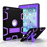 iPad 2 3 4 Case - Fisel Three Layer PC & Silicon High Impact Hybrid Drop Proof Armour Defensive Full Body Protective Case With Kickstand for iPad iPad 2 3 4 Generation