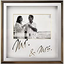 UMICAL 4x6 Photo Frame Mr&Mrs Picture Frame Anniversary Wedding Gift Desk Bed Stand Tabletop to Display 4x6 Inch Photo