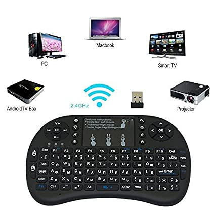 Smart one Combo of Mini Wireless Touchpad Keyboard with: Amazon in