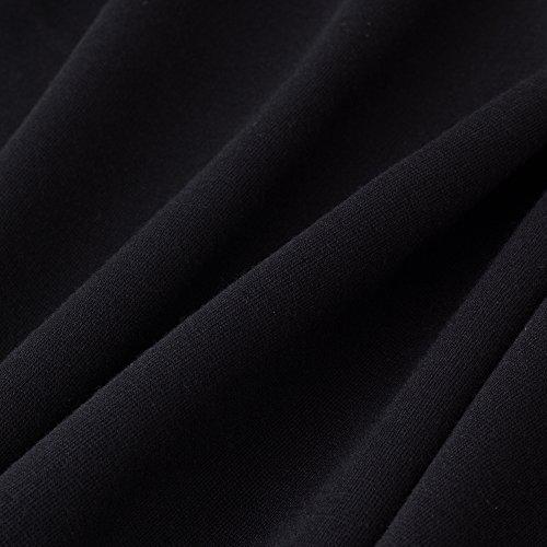 HOMEYEE - Vestido - ajustado - Sin mangas - para mujer negro