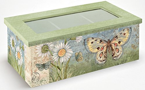 Lang 2159000 Butterfly Daisy Tea Box by Susan Winget, Assorted