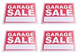 Pack of 4 GARAGE SALE Signs, Flexible Thin Plastic Sheet