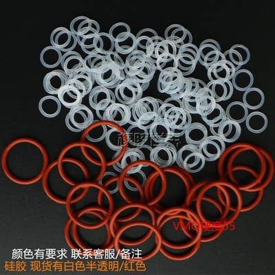 Gimax 100PCS Silicone Type Oring high Temperature Non-Toxic Sealing Ring Wire Diameter 1.5MM Outer diameter17mm-26mm - (Size: OD 20x1.5mm, Color: White)