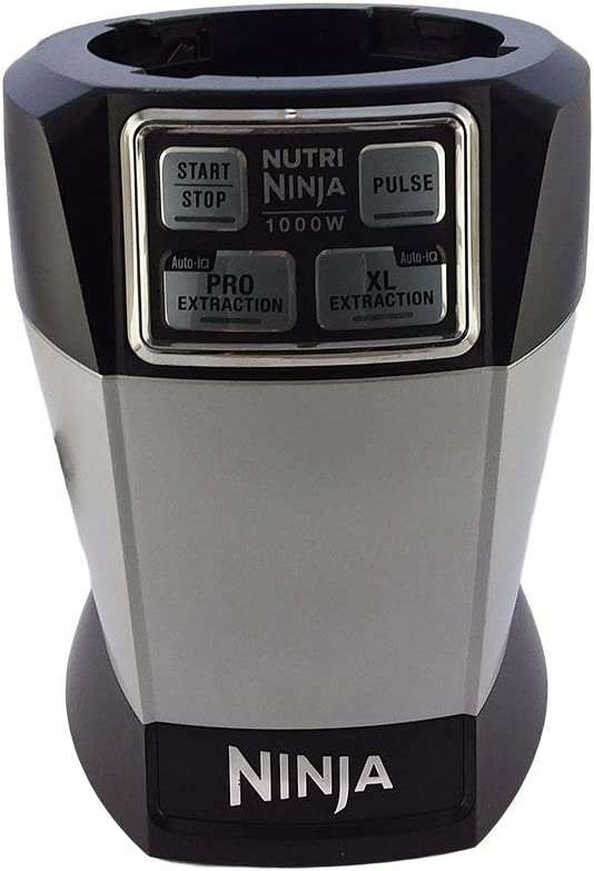 OEM BL486 Nutri Ninja Auto-iQ Extraction System 1000 Watts Power Motor fit 48 oz. Multi Serve Jar 12, 18, 24, 32oz Tritan Nutri Ninja Cup and 24oz Stainless Steel Cup (Renewed)