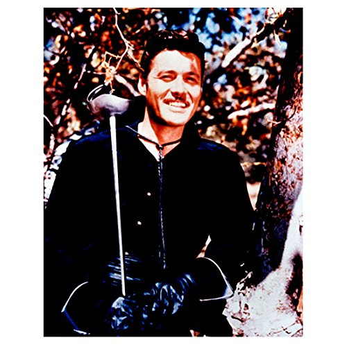 Guy Williams as Zorro Standing by Tree Holding Sword with Big Smile in Sunshine 8 x 10 inch photo