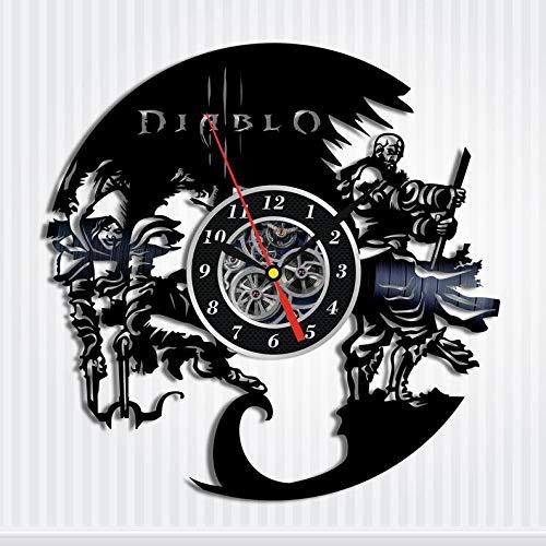 Diablo Game Vinyl Record Wall Art Clock Diablo Clock Gift For Gamers Room Design