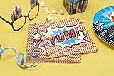 Ginger Ray Paper Napkins - Pop Art Superhero