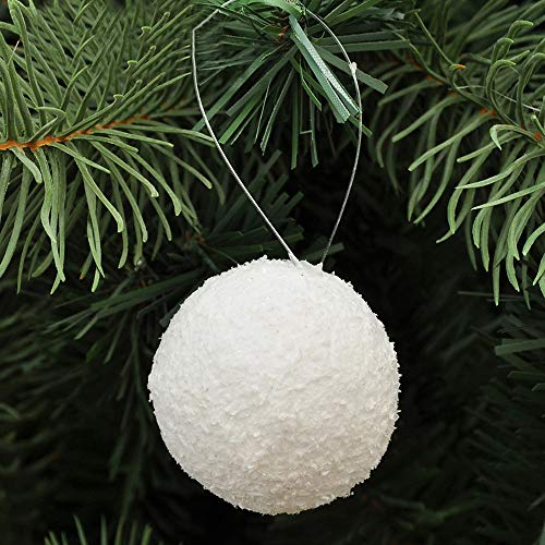 Ornament Christmas Snowball (Pandaie Home Decor Christmas Decorations, 6PCS Christmas Snowball Balls Party Ornaments Xmas Tree Hanging Decoration)
