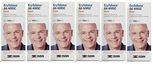 6x ISDIN ERYFOTONA AK-NMSC spf100+ FLUID 50ml. NON-MELANOMA CANCER TOTAL 300 Skin Beauty Gift by Facial Sunscreens