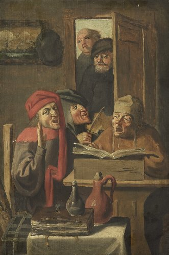 Artisoo Musical company - Oil painting reproduction 30'' x 20'' - Adriaen Brouwer