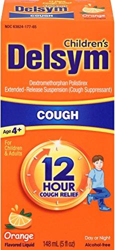 Delsym Children's 12 Hr Cough Relief Liquid, Orange, 5oz