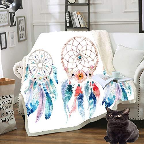 Blankets Manta Suministros de Cama Impreso en 3D de Doble Capa, cálido, Transpirable, Ligero, Todo el año,C,150x200cm