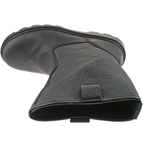 Grafters - Calzado de protección de Piel para hombre negro (negro)