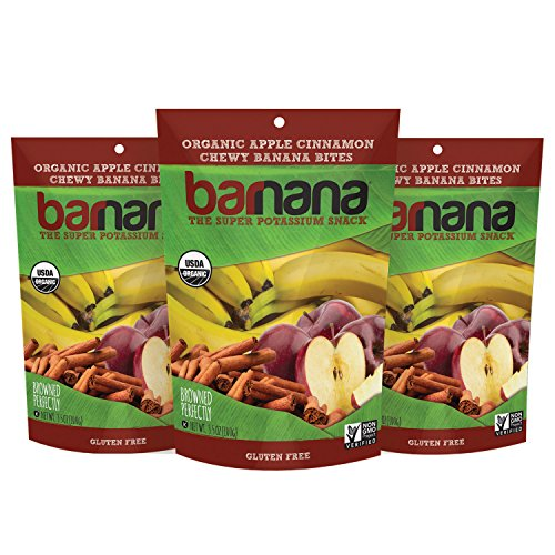 Worlds Best Apple Pie (Barnana Organic Chewy Banana Bites, Apple Cinnamon, 3.5 Ounce, 3 Count)