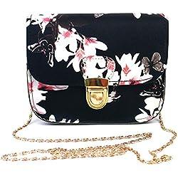 JD Million shop Floral Print Women Leather Handbags Chains Shoulder Crossbody Bag Women Bag Satchel Tote Women Messenger
