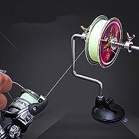SLMOZKA Fishing Line Spooler Silver Reel Winder Spool...