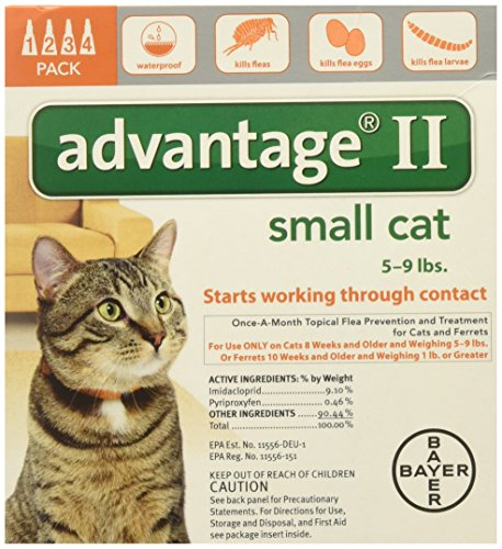Advantage II for Cats 5-9 Lbs. 4 Months