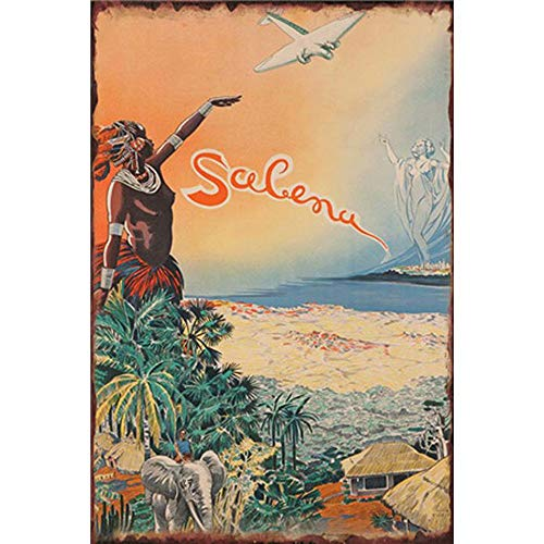 YOMIA Retro Vintage Tin Signs Painted Poster Metal Signs Wall Art Metal Poster Plaque Office Hobby Shop Cafe Pub Collector Nightfall Time