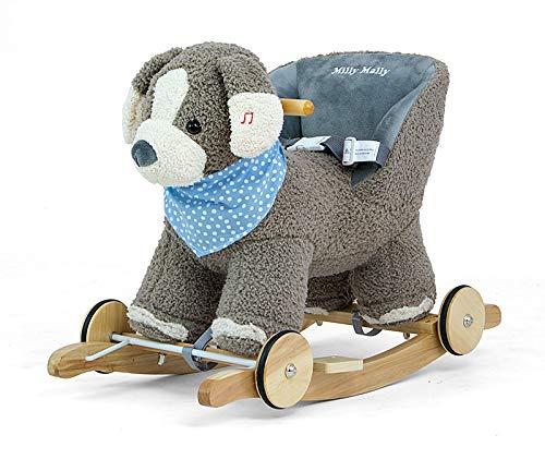 connotación de lujo discreta gris Dog POLLY 2en1 Caballo balancín de de de peluche Caballo balancín Felpa Animal balancín Juguete balancín en 9 Colors con efectos de sonido para niños pequeños (+12 meses), Schaukelpferd Muster gris Dog  barato y de moda