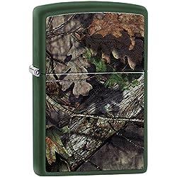 Zippo Mossy Oak Break Up Country Pocket Lighter, Green Matte