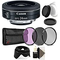 Canon EF-S 24mm f/2.8 STM Lens with Ultimate Accessory Kit For Canon EOS Rebel T3, T3i, T5, T5i, and SL1