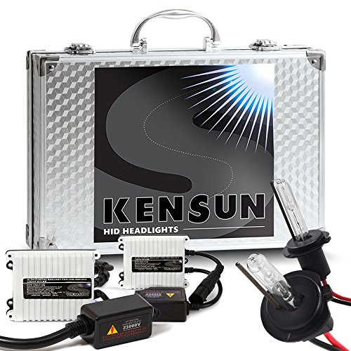 55w Kensun HID Xenon Conversion Kit All Bulb Sizes and Colors with Digital Ballasts - H7-5000k