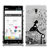 Unique Soft and Flexible Dandelion Girl TPU Silicone Cover for LG Optimus L9 by ThePhoneCovers