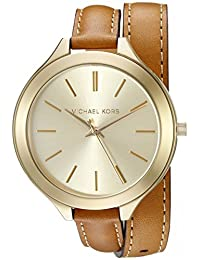 Michael Kors Slim Runway MK2256 Women's Wrist Watches, Gold Dial