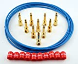 George L's Deluxe Blue Cable Kit - Red Caps