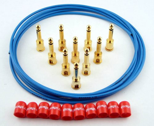 George L's Deluxe Blue Cable Kit - Red Caps by George L's