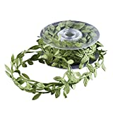 DECORA Artificial Green Leaf Ribbon for Wreath and Flower Decorations (20 yard spool)