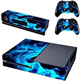 UUShop Protective Vinyl Skin Decal Cover for Microsoft Xbox One Console wrap sticker skins with two Free wireless…